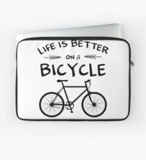 Life's Better On A Bicycle Laptop Sleeve