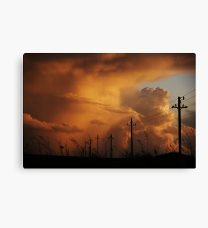 power in the sky Canvas Print