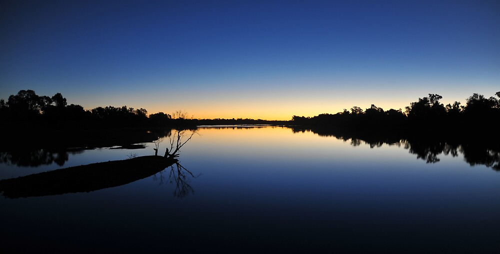 """STILLNESS"" GILBERT RIVER, STIRLING STATION QLD AUSTRALIA by GARTH  CHRISTIANSEN"