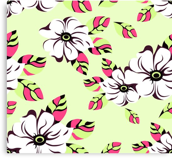 floral seamless pattern by ativka