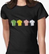 Colours of the TDF Womens Fitted T-Shirt