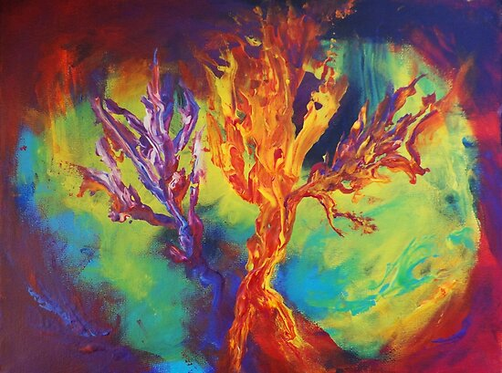 """""""Coral Forest"""" original artwork by Laura Tozer by Laura Tozer"""