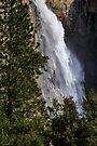 Yosemite, Waterfall along Merced Entrance by photosbyflood