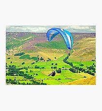 Paragliding off Mam Tor - 01  Photographic Print