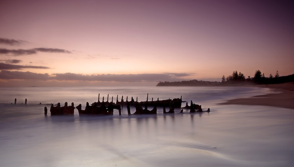 Dawn at Dickie Beach by Natasha