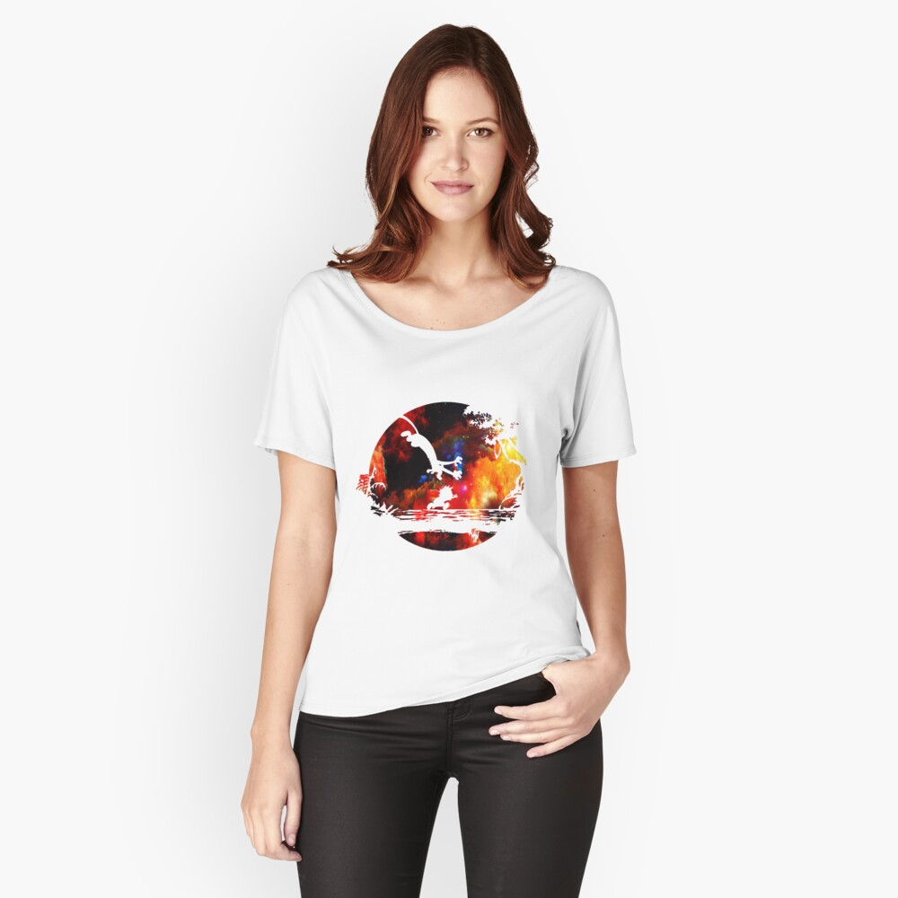 Calvin and Hobbes Women's Relaxed Fit T-Shirt Front