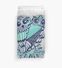 Owls – Turquoise & Navy Duvet Cover