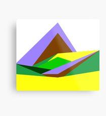 Green Hills, Generative art, Data Visualisation Metal Print