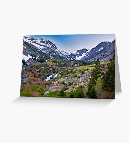 Dusk at Lundy Canyon Greeting Card