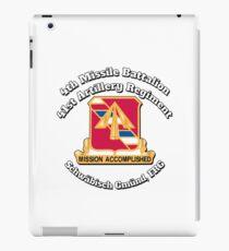 Vinilo o funda para iPad 4 ° Batallón de misiles 41 ° Regimiento de artillería - Pershing
