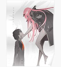 darling in the franxx Hiro x Zero Two Poster