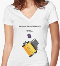 Everyone is a photographer Women's Fitted V-Neck T-Shirt