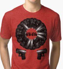 Chk CHk Boom - crazy pattern Tri-blend T-Shirt