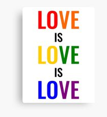 Love is Love is Love Canvas Print