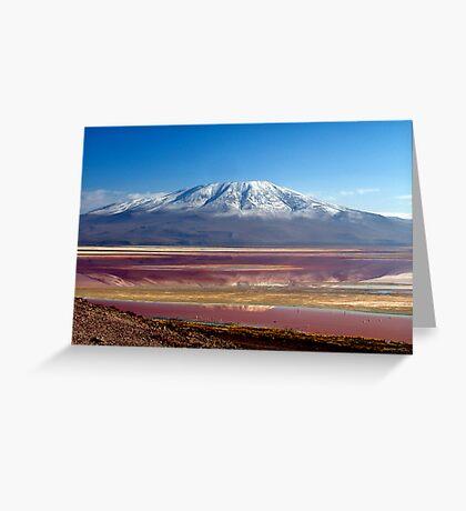 Laguna Colorada, Bolivia Greeting Card