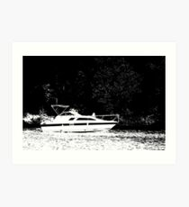 Crusin' on the Lake Art Print