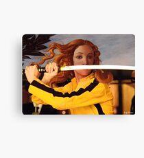 Lienzo Venus de Botticelli y Beatrix Kiddo de Kill Bill por Luigi Tarini