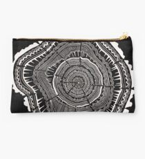 Woodblock Tree Rings Studio Pouch