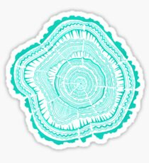 Turquoise Tree Rings Sticker