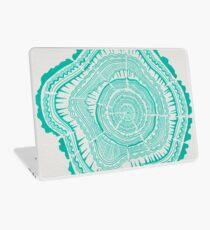 Turquoise Tree Rings Laptop Skin