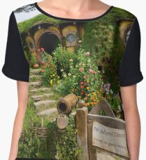 No Admittance Except on Party Business Chiffon Top