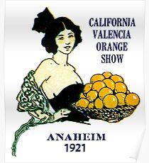 1921 California Valencia Orange Show Poster