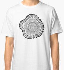 Tree Rings – Black on White Classic T-Shirt