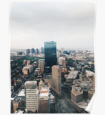 Skyline von Boston Poster