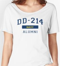 cea1e79d4292 US Navy Shirt DD214 Alumni for a Retired Hero Veteran T Shirt Women's  Relaxed Fit T