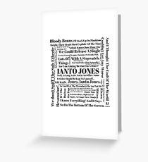 Ianto Jones Quotes Greeting Card