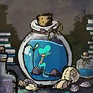 Tiny Mermaid in a Bottle by spiffy-keen
