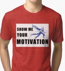 Motivation in Blue Tri-blend T-Shirt