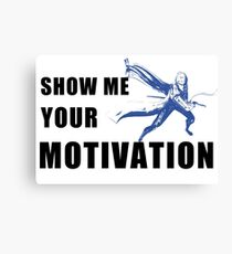 Motivation in Blue Canvas Print