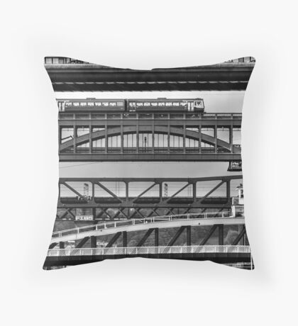 Bridges Over the Tyne Throw Pillow