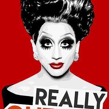 """Really, Queen?"" Bianca Del Rio, RuPaul's Drag Race Queen by vixxitees"