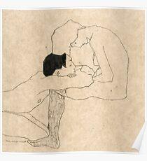 """Egon Schiele """"Liebhaber"""" Poster"""
