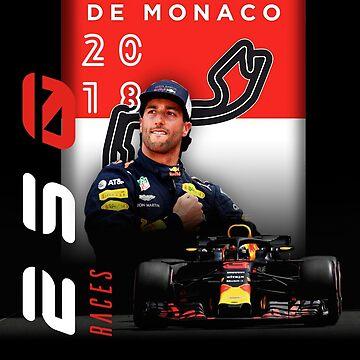 Daniel Ricciardo F1 Formula One 2018 250 Monaco Races Champion (Redemption)  by customstyle