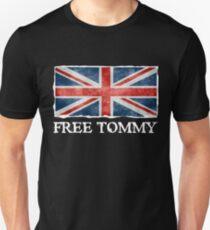 Kostenlose Tommy Robinson Shirt, Redefreiheit Tee, UK-Politik Slim Fit T-Shirt