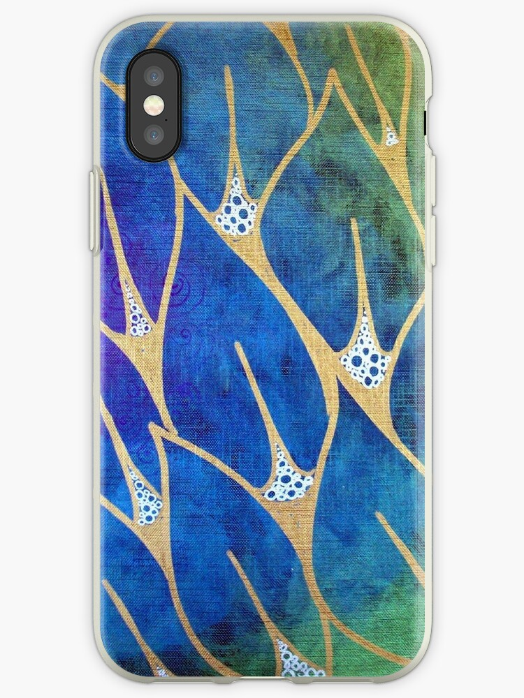 Rainbow Leaves iphone ipod Cover by MandarinMoon