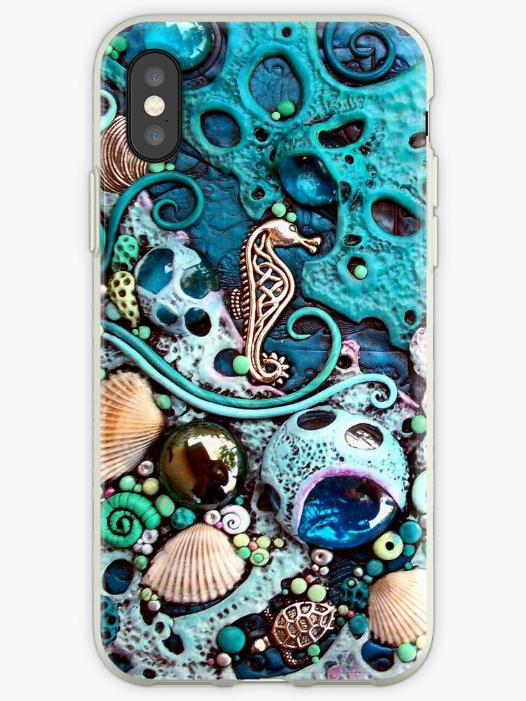 Underwater Fantasy Blue Seahorse iphone ipod Cover by MandarinMoon