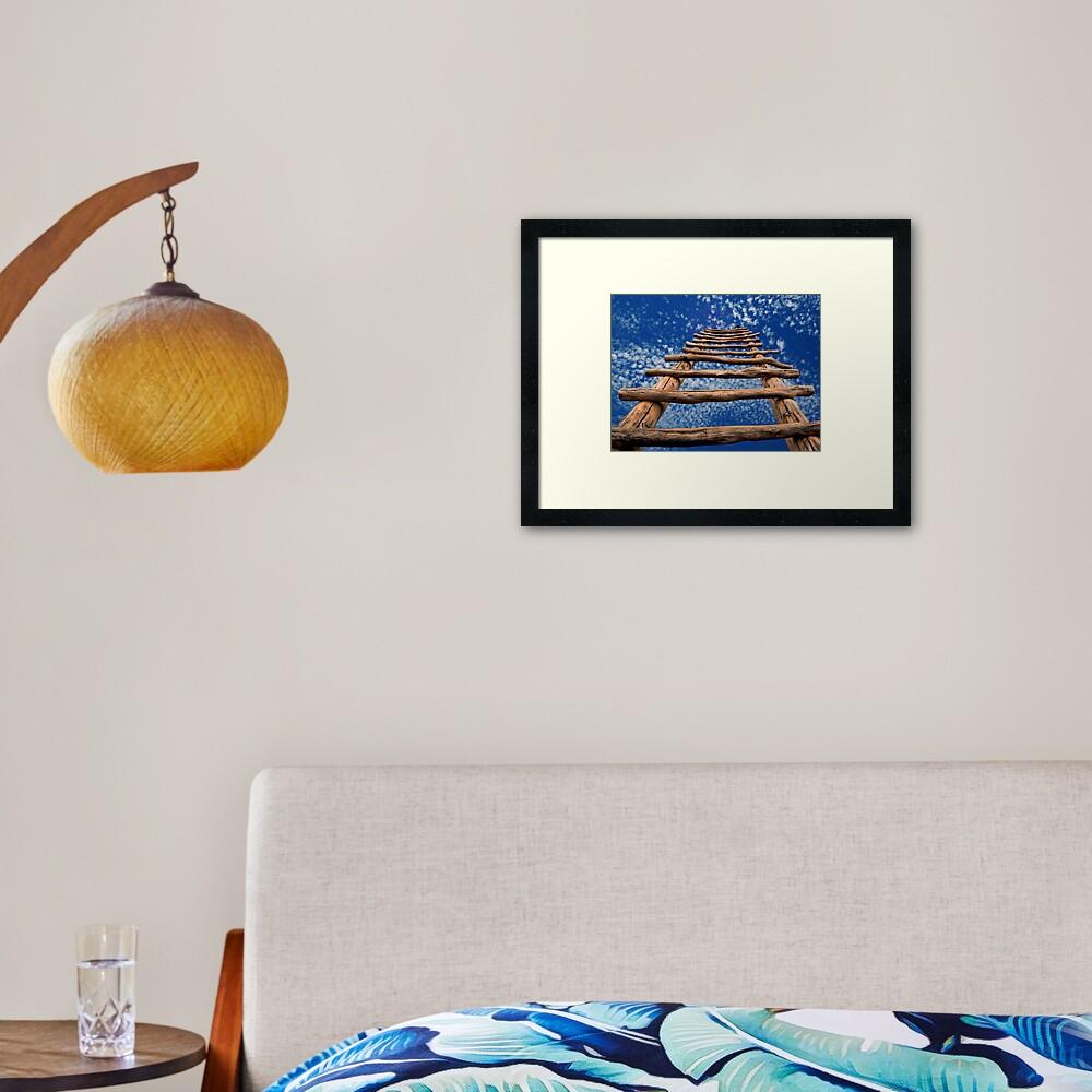 Kiva Ladder Framed Art Print