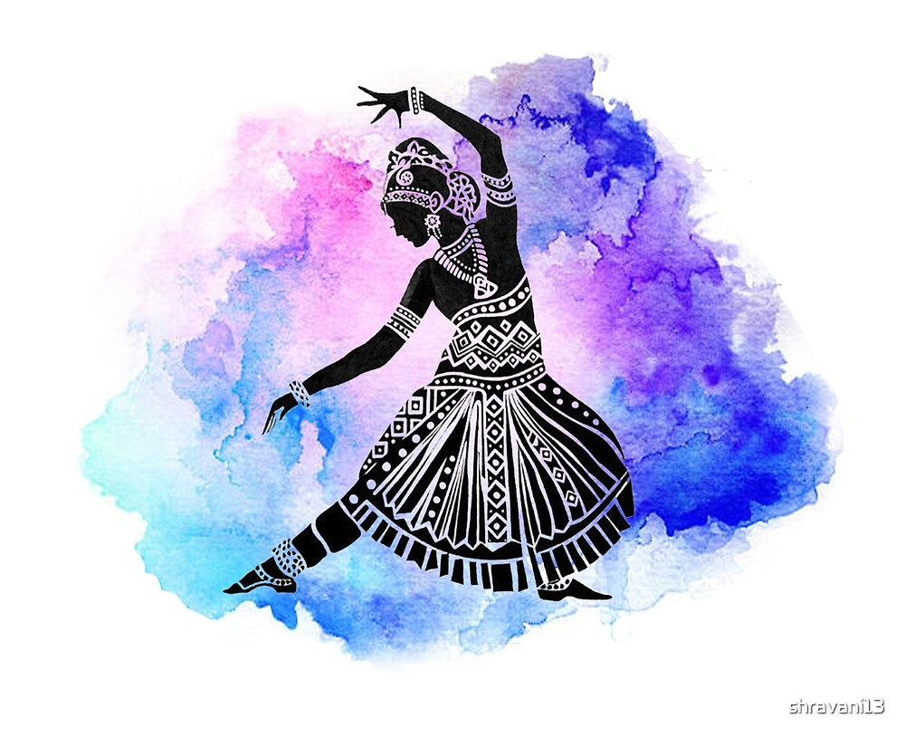 Watercolor Indian Dancer by shravani13