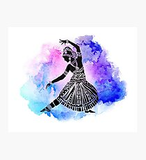 Watercolor Indian Dancer Photographic Print