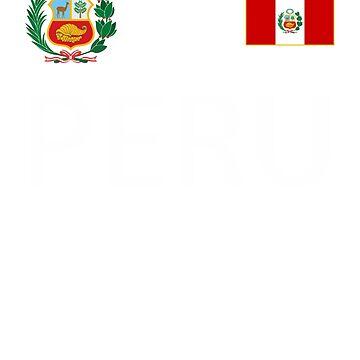 Peru Shirt - Peru Soccer Peruvian Flag Coat of Arms - Retro Men Women Youth Jersey  by HallelujahTees