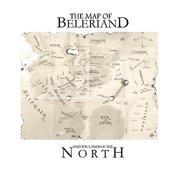 Map of Beleriand  by Kamikazekatze