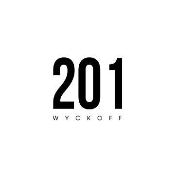Wyckoff, NJ - 201 Area Code design by CartoCreative