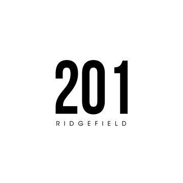Ridgefield, NJ - 201 Area Code design by CartoCreative