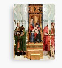 Madonna with Christ Child, Pope, Joseph and David Hockney. Canvas Print