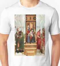 Madonna with Christ Child, Pope, Joseph and David Hockney. T-Shirt