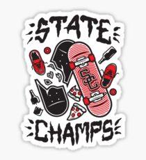 Pegatina Etiqueta engomada de los campeones del estado